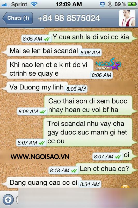 Lộ tin nhắn 'chiêu trò' tạo scandal giữa Cao Thái Sơn và Adam Nguyễn