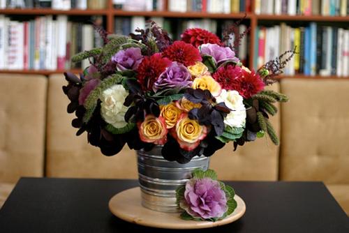 Hoa đẹp 20-10: Lạ mắt 2 mẫu cắm hoa Bắp cải - 10