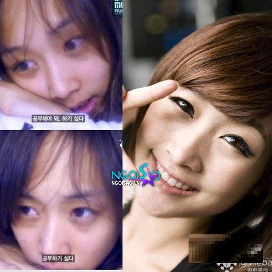 'Lật tẩy' mặt mộc xấu xí của mỹ nhân Hàn khi thiếu son phấn
