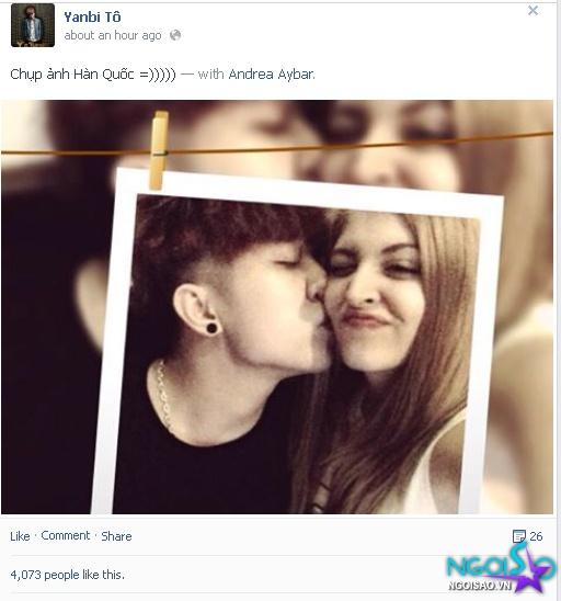 Yanbi và Andrea muốn công khai tình yêu?