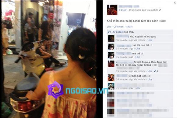 Thêm loạt ảnh sốc: Yanbi túm tóc, đánh Andrea ở phố Hàng Trống