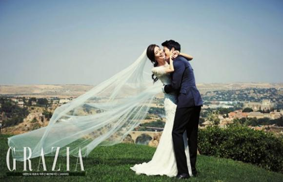 Ảnh cưới đẹp như mơ của Lee Bo Young và Ji Sung
