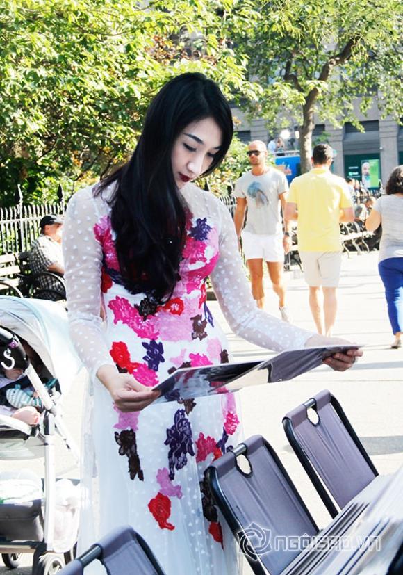 Áo dài của Võ Việt Chung đẹp lãng mạn giữa New York