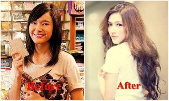 'Sốc' với nhan sắc trước và sau thẩm mỹ của loạt sao Thái Lan