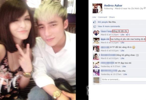 Andrea và Văn Mai Hương yêu chung một người?