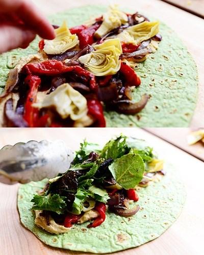 Bánh rau bina cuộn hoa atiso bơ rau thập cẩm siêu lạ (13)