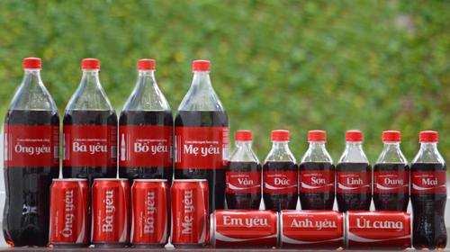 Ý nghĩa chương trình quảng cáo in tên lên lon coca là gì?