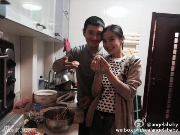 AngelaBaby về nhà Huỳnh Hiểu Minh ăn Tết