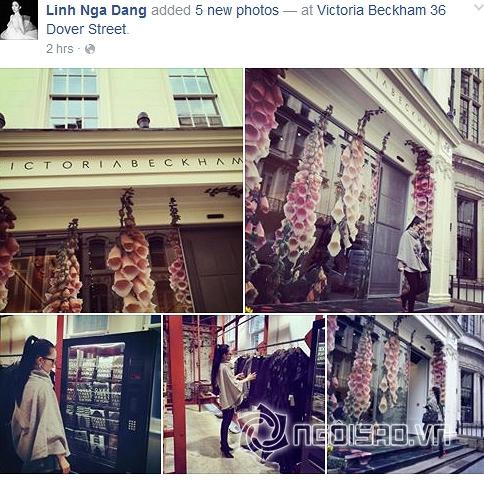 Linh Nga khoe ảnh mua sắm tại cửa hàng của Victoria Beckham