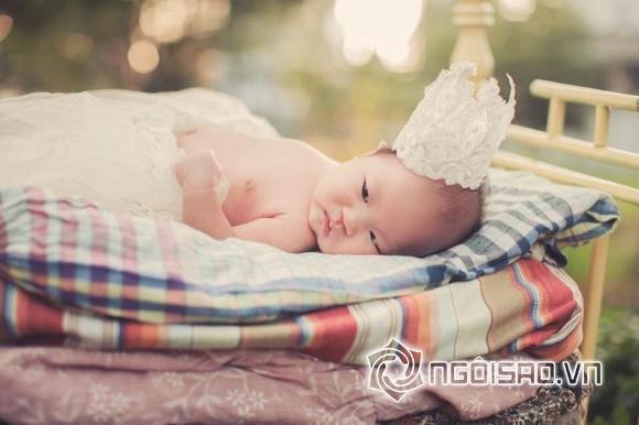 Con gái út Lý Hải mặc váy, cài hoa xinh như công chúa 5