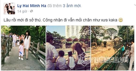 'Bắt gặp' Lý Hải - Minh Hà sành điệu đưa con đi chơi sở thú