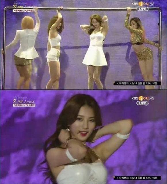 Sao Hàn muốn 'độn thổ' vì sự cố trang phục trên truyền hình