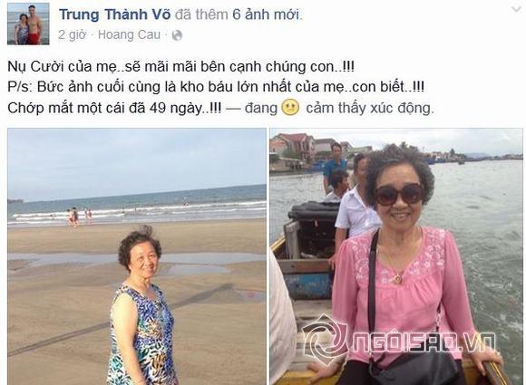 MC Thành Trung tâm sự xúc động trong 49 ngày của mẹ