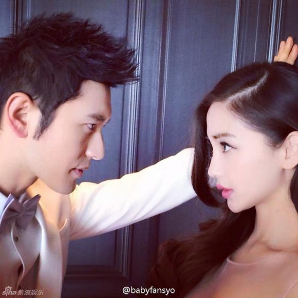 Lộ ảnh cưới của Huỳnh Hiểu Minh và Angela Baby 4