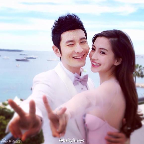 Lộ ảnh cưới của Huỳnh Hiểu Minh và Angela Baby 5
