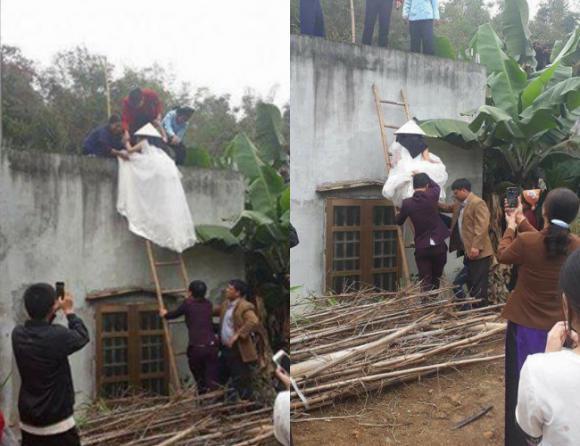 Ngày cưới, cô dâu ở Bắc Kạn phải bắc thang trèo vào nhà chồng vì tin lời thầy bói