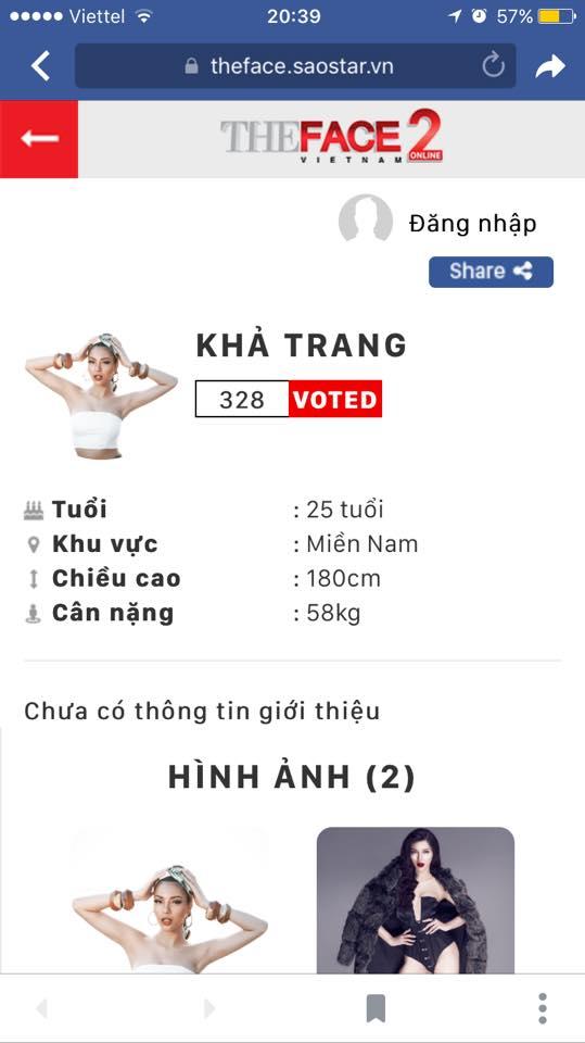 Siêu mẫu Việt Nam Khả Trang cũng tham gia The Face 2017