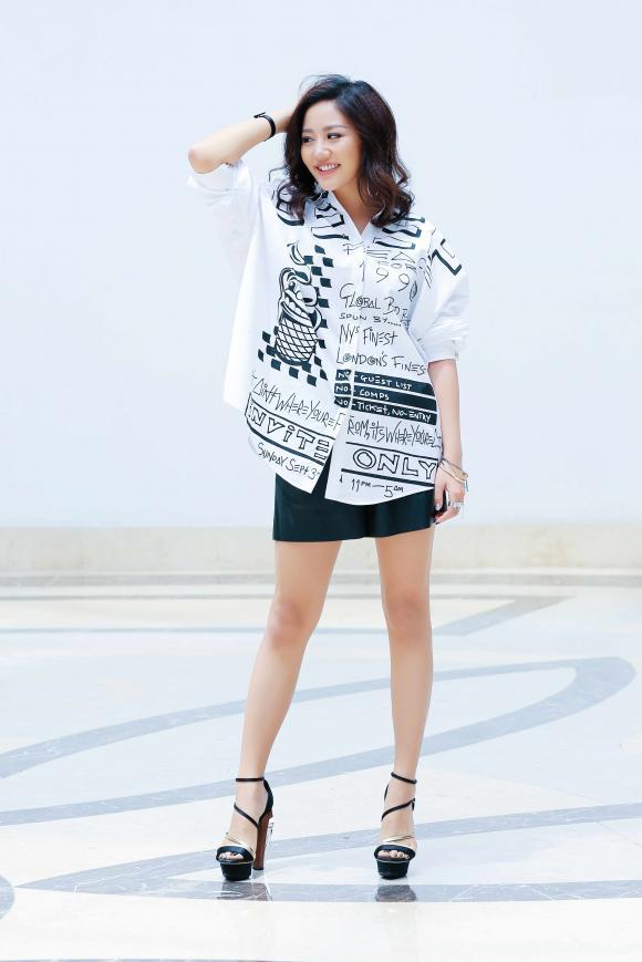 Văn Mai Hương trẻ trung đi chấm thi Vietnam Idol Kids