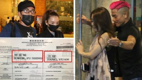 """Lộ giấy đăng ký kết hôn của """"Thiên vương"""" Quách Phú Thành và mẫu nữ kém 23 tuổi"""