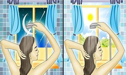 tắm buổi sáng