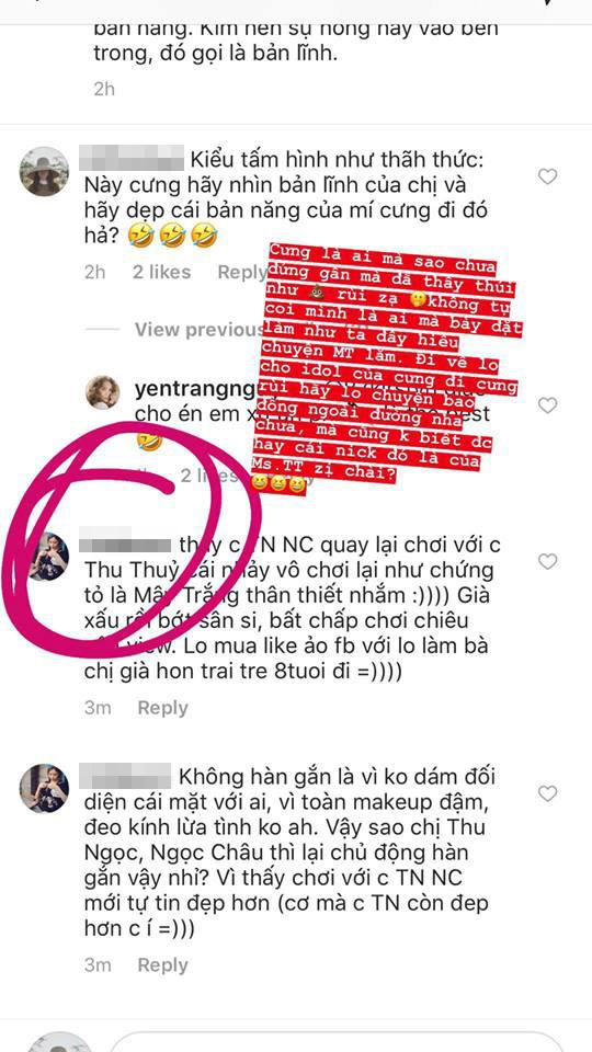 Yến Nhi đáp trả gay gắt khi chị gái bị fan Thu Thủy nói sân si, bất chấp chơi chiêu