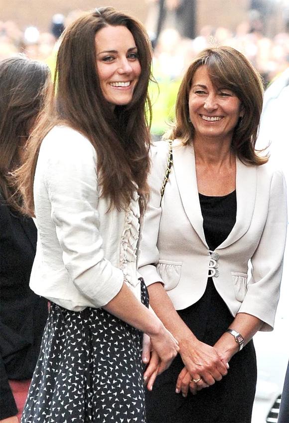 Meghan Markle, công nương Kate, mẹ của Meghan Markle