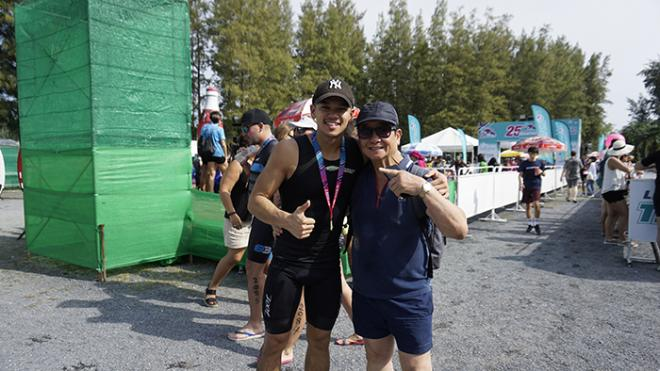 Trọng Hiếu, Laguna Phuket Triathlon, sao Việt