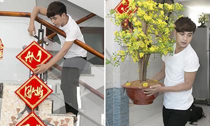 Hồ Quang Hiếu tất bật sửa soạn nhà tiền tỷ đón Tết