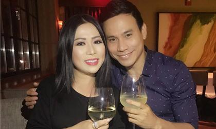 Hoa hậu Kristine Thảo Lâm rạng rỡ bất ngờ hội ngộ tài tử Trí Quang trên đất Mỹ