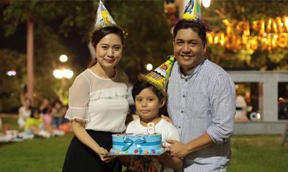 Vợ chồng Thanh Thúy – Đức Thịnh tổ chức sinh nhật ngoài trời cho con trai