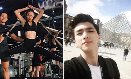 Hot girl và hot boy ngày 12/10/2017: Thanh Tú tập gym để chuẩn bị tốt cho chung kết Hoa hậu Đại Dương, Bình An điển trai ở trời Tây