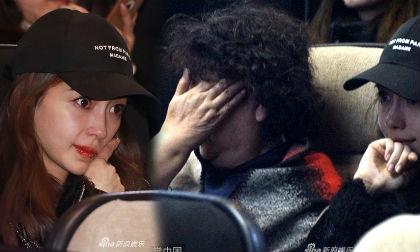 """Angela Baby và mẹ chồng """"khóc như mưa"""" khi xem phim của Huỳnh Hiểu Minh"""