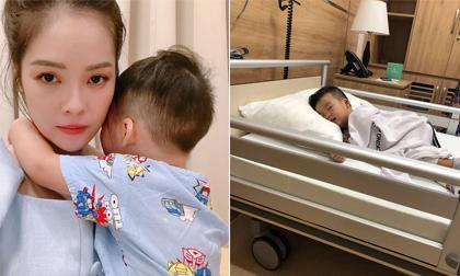 Sau ly hôn, Dương Cẩm Lynh mệt mỏi vì thức đêm chăm con trong bệnh viện