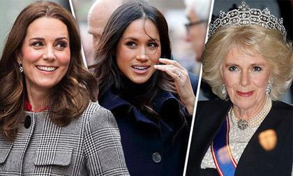 """Màn """"trả đũa"""" cao tay của Meghan và Kate trước thủ đoạn """"chơi xấu"""" con dâu từ mẹ chồng Camilla"""