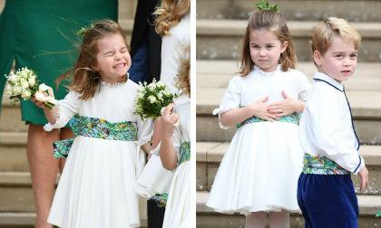 Loạt khoảnh khắc đáng yêu của Công chúa Charlotte và Hoàng tử George trong đám cưới cô họ