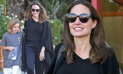 Angelina Jolie rạng rỡ đi chơi cùng con gái ruột giữa tin Brad Pitt hẹn hò người mới