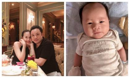 Victor Vũ – Đinh Ngọc Diệp khoe ảnh cận mặt con trai kháu khỉnh, đáng yêu sau hơn một tháng chào đời