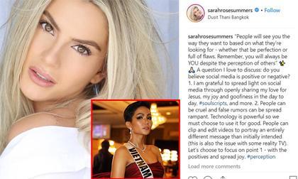 """Hoa hậu Mỹ bị cư dân mạng quốc tế """"tổng sỉ vả"""" vì vạ miệng chê tiếng Anh của H""""Hen Niê"""