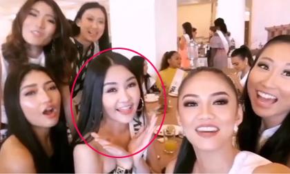 Mặc ồn ào, Ngân Anh hạnh phúc khi được các thí sinh Hoa hậu Liên lục địa tổ chức sinh nhật cho