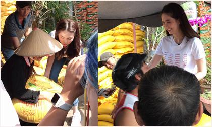 Ngọc Trinh về quê nhà Trà Vinh phát quà từ thiện cho người nghèo