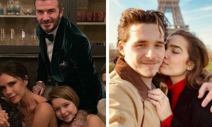 Ngày Valentine của nhà Beckham: Cô út 7 tuổi đã có người gửi thiệp tình yêu, cậu cả đưa bồ đi ngắm tháp Eiffel