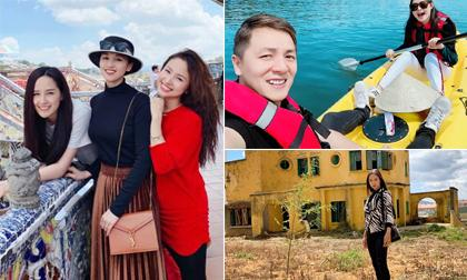"""Đầu năm 2019, sao Việt """"rủ nhau"""" lên Đà Lạt tận hưởng kỳ nghỉ trong mơ"""