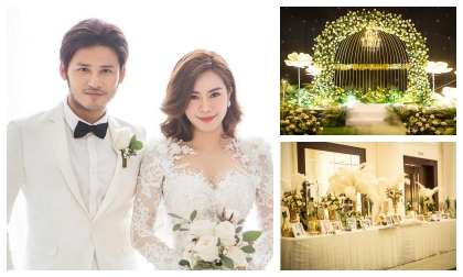Cập nhật: Không gian tiệc cưới ngập hoa tươi của Vũ Ngọc Ánh và Anh Tài