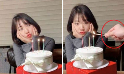 Ảnh sinh nhật 29 mà như gái 18 của Park Shin Hye gây sốt nhưng dân mạng thắc mắc ai là người thắp nến?
