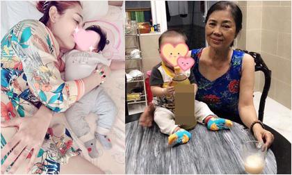 Lâm Khánh Chi khoe ảnh con trai gần 4 tháng tuổi cứng cáp, đã biết ngồi