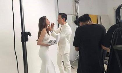 Rò rỉ hình ảnh được cho là hậu trường chụp cảnh cưới của Kim Lý – Hà Hồ?