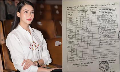 """Hoa hậu Trái đất Phương Khánh khoe bảng điểm lớp 12 khiến mỹ nhân Việt nào cũng phải """"nể"""""""