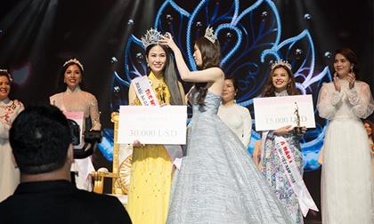 Mỹ nhân Sao Mai đăng quang Hoa hậu Áo dài Việt Nam 2019 tại Singapore